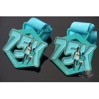 Quality My Race 75K Marathon Custom Metal Sports Medals, Spray Pontan Colors And With Printing Ribbon for sale