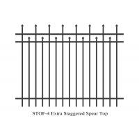 China Extra Staggered Crimped Top Spear Garrison Fence panels 3 rails 2.1m x 2.4m stain interpon powder on sale