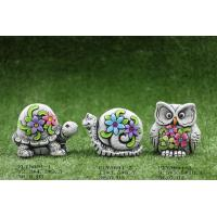 Quality Creative Cute Ceramic Garden Decorations , Cement Garden Turtles And Owl for sale