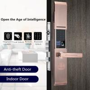 Quality Zinc Alloy Semiconductor Fingerprint Door Lock Sliding Cover Type for sale