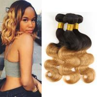 Quality 1B / 30 Two Tone Ombre Human Hair Extensions Brazilian Loose Wave Hair Weave for sale