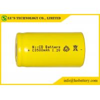 Quality Low Self Discharge 3500mah 1.2 V Nicd Rechargeable Batteries Wide Temperature Range for sale