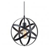 Quality Industrial Metal Spherical Pendant Light / Rustic Chandelier Vintage Hanging Cage Globe Ceiling Light for sale