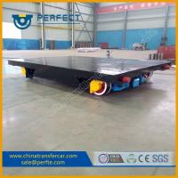 China Heavy duty moving cargo use rail cart with bearing for workshops on sale