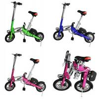 Quality Multi Colors 350w Lightweight Folding Electric Bicycle With Seat / Display for sale