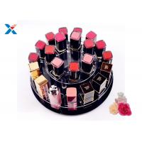 Quality 2 Tiers Round Acrylic Makeup Organiser 360 Degree Rotating For Displaying Lipsticks for sale