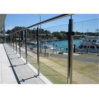 Quality Stainless Steel Round Railing Frameless Glass Handrail Post glass Clamp Balustrade for sale