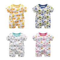 Quality Soft Cute Newborn Baby Clothes Short Sleeve Bodysuit Baby Boys And Girls for sale