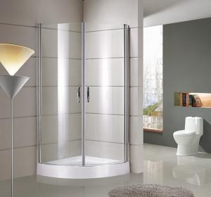 round / sector Corner Shower Enclosures Tempered  glass Material Magnet lock strip