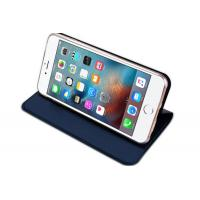 Quality Slim Iphone Flip Cover Dark Blue , Iphone 5 Leather Case Magnet Kickstand for sale