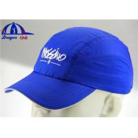 Quality Custom Dry Fit Running Sport Caps and Hats with Printing / Embroidery Logo for sale