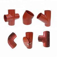 Quality EN877 Standard Red Coated Cast Iron Pipe Fittings for sale