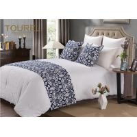 Quality Elegant & Simple Hotel Bed Runners King Size Blue Bed Runner for sale