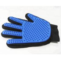 Quality 259 Pins Gentle Pet Mitt Brush Five Finger Dog Cleaning Gloves Long Service Life for sale