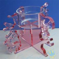 Quality CH (18) Clear Acrylic Candle Holder With Acrylic Stand for sale