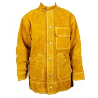 Buy cheap Durable Cow Leather Split Welding Suit Coat Protection Clothes PPE Safety Wear from wholesalers