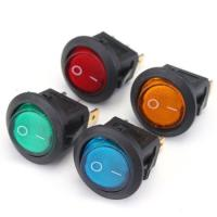 Quality 12v Small Round Rocker Switch With Led White Blue Green Color Boat Switches for sale