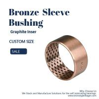 Quality Thin Wall Graphite Plugged Bushing Metric And Inch Sizes Bronze Sleeve FB09G for sale