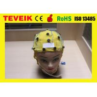 Quality Integrated EEG Cap for EEG Machine ,Tin Electrode 20 leads with Ear Clip for sale