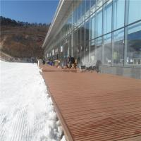 Quality Outdoor solid WPC wood flooring deckings in ski resort (RMD-57) for sale