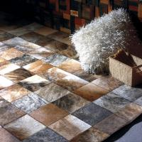 China MP Series Luxury Leather Patchwork Carpet Customized 100% Natural Cow Rugs From China Carpetsfactory.com on sale