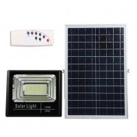 Quality 100W 224LED Solar Flood Lights with Remote Outdoor Street Light With Solar Panel Battery for Garden Patio Parking Lot for sale
