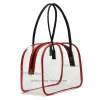 Quality Deluxe High Transparency PVC Tote Bag Red PVC Tube Trim For Multi Purposes for sale