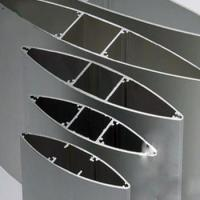 Quality Anodize  Aluminium Extrusion Profiles Fans , Extrusion Aluminum Airfoil Blade for sale