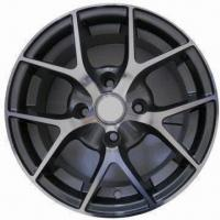 Quality Car Alloy Wheel Rim of Aftermarket, Comes Gun Metal Full Polish, Measures 14x6/15x6 Inches for sale