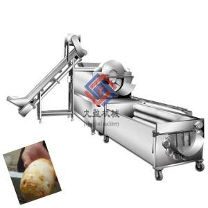 China Big Capacity Vegetable Fruit Production Line / Potato Washing And Peeling Machine on sale