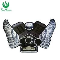 Quality Fashion Unique Iron On Clothes Badges / Laser Cut Custom Motorcycle Patches for sale