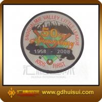Quality round clothing woven patches for sale