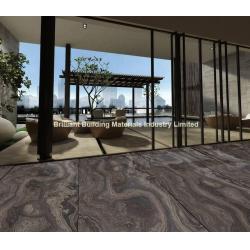 China Brown Wooden Veins Marble Floor Tiles(Cross Cut) for sale