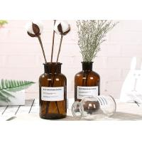 Quality Machine Made Glass Brown Bottle Decorative Glass Vases For Flower / Ins Popular for sale