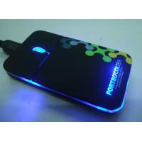 Quality super slim mouse with light logo for sale