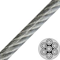 China 3/16 (7x19) Galvanized Vinyl Coated Aircraft Cable to 1/4 Break Strength 4200lb on sale