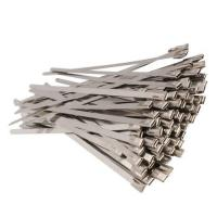 China Epoxy Coated Stainless Steel Cable Ties , High Strength Stainless Steel Tie Wraps on sale