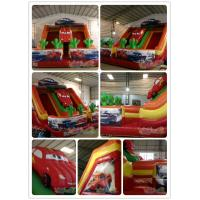 Quality Inflatable Car Double Lane Slide for sale