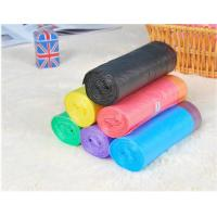 Buy HDPE Packaging Home Garbage Bags , Drawstring Trash Can Liners Customized Size at wholesale prices