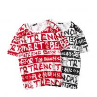 Quality Short Sleeve Mens Cotton All Over Print T Shirt , Full Sublimation T Shirts for sale