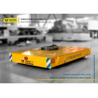 China Armored Line Powered Workshop Rail Transfer Cart / Industrial Material Handling Carts on sale
