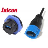 China IP67 Waterproof USB Connector , Watertight USB Connector Power And Data Charging on sale