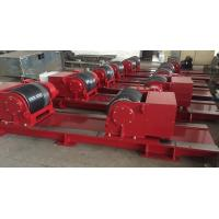 Quality Red Bolt Adjustable Pipe Stands , Heavy Duty Welding Roller Beds With PU Wheel for sale