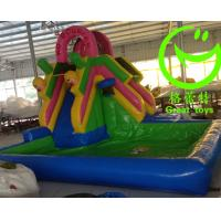 Quality 2016 Hot sell Inflatable bouncy castle with water slide with 24months warranty from GREAT TOYS for sale