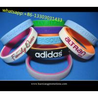 Quality Custom Promotional Wrist Band,Adjustable Silicon Wristband,Promotional Silicone band for sale