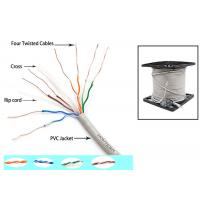 Quality Telecommunication Cat6 UTP Cable 350MZ Ethernet 0.56mm Twisted pair with Drain Wire for sale