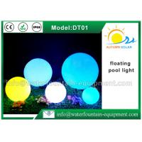 Quality Outdoor Floating Solar Pool Lights , Ball Waterproof LED Light With Remote Controller for sale