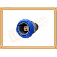 Quality Push Pull 2 Pin Circular Connector Self Locking / Double Reed Locked for sale