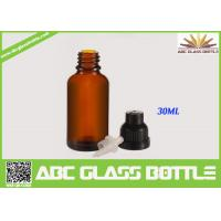 Quality 30ml amber essential oil glass bottle for sale