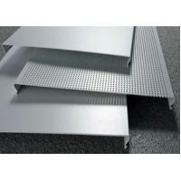 Quality C100 Bevelled Edges Perforated Aluminum Ceiling Panels RAL Colors for sale